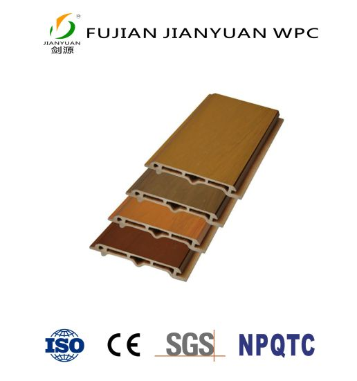 ASA-PVC Co-Extruded Wood Plastic Composite WPC Exterior Wall Decorative Covering Cladding Panel