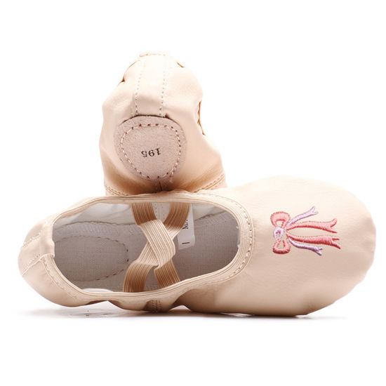Girls' Basic Ballet Slippers Pink Cotton Canvas Dance Shoes