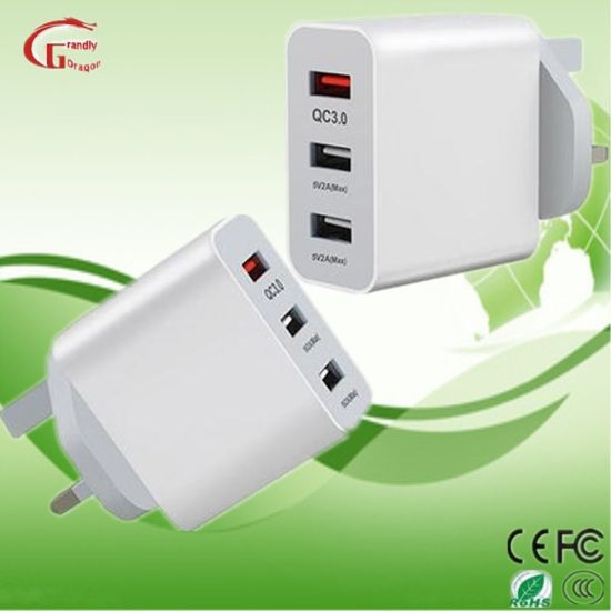 QC 3.0 Fast Charging Wall Charger 15W AC DC Power Adapter Switching Power Supply 3 USB for iPhone pictures & photos