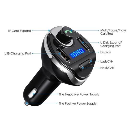 Car Kit MP3 Player FM Transmitter Bluetooth Wireless Radio Dual USB Charger lot