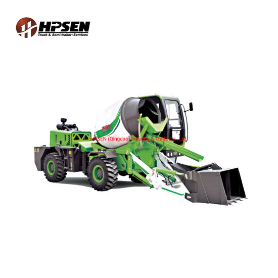 3.5m3 Rotated Body Heavy Duty Construction Machinery Equipment Self Loading Mixing Concrete Mixers Truck