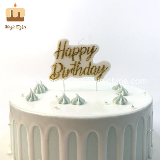 Marvelous China Unique Luxury Gold Happy Birthday Cake Candles For Adults Funny Birthday Cards Online Inifodamsfinfo