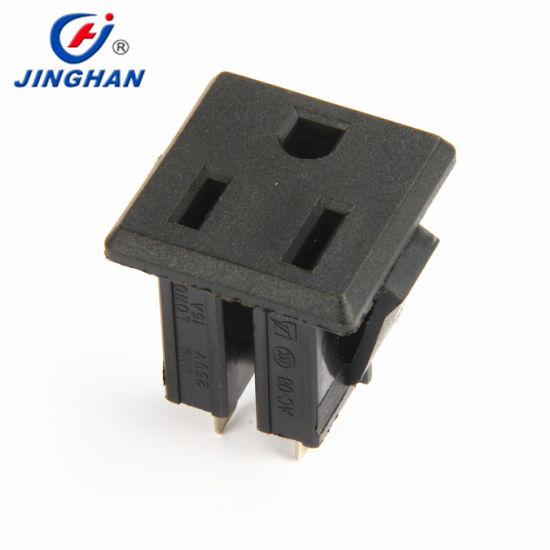 Professional Supplier 10A 220V 110V AC Power Socket with Bent Terminal Chinese AC Socket