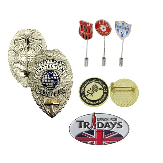 China Factory Promotion3d Custom Flag/Cartoon/Heart/Flower/Poppy/School/Police/Anniversary/Military Gold Tin Button/Embroidery/PVC/Enamel Metal Lapel Pin Badges
