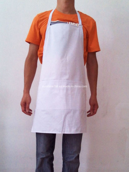 Restaurant Cooking Kitchen Bib Apron with Double Buckle Adjustable Neck
