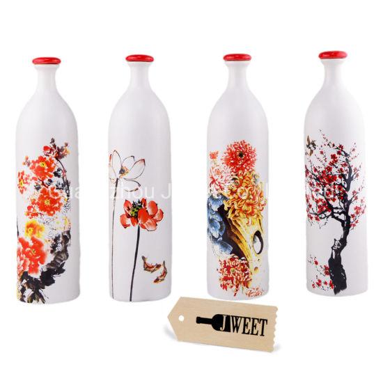 Customized 750ml Ceramic Gin Bottle