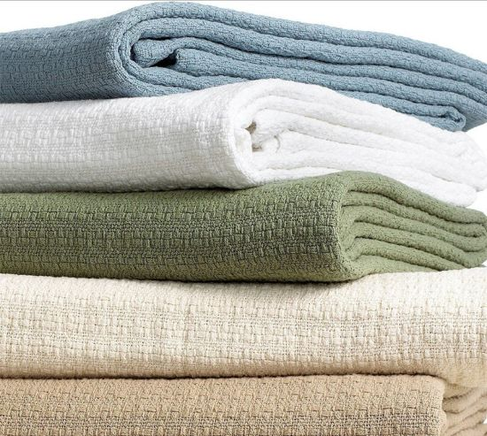 Eco-Friendly Cotton Knitted Blanket for Hotel Bedding
