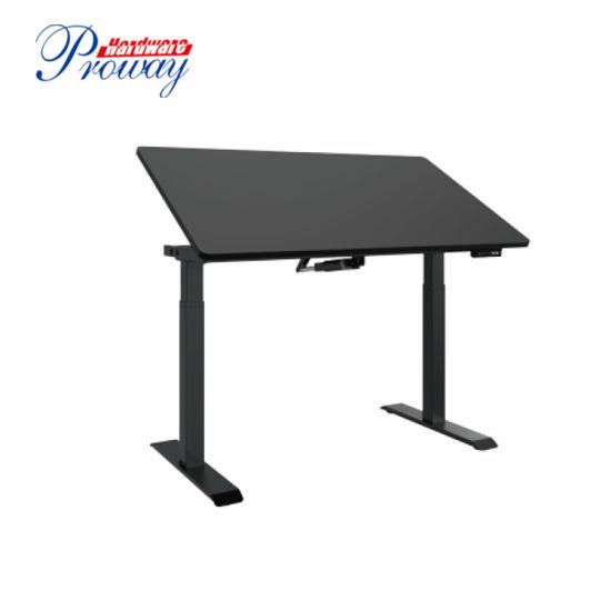Single Motor Electric Height Adjustable Tiltable Standing Desk