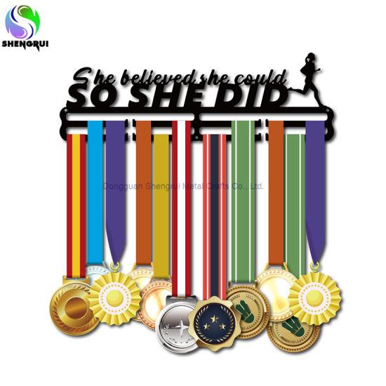 Customized Sport Medal Hanger Medal Display Hook Hanger for Runner Triathlon