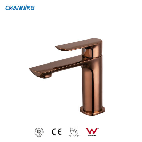 Channing Top Sale High Quality Rose Gold Color Brass Bathroom Tap Basin Faucet (QT-72 1101RG)