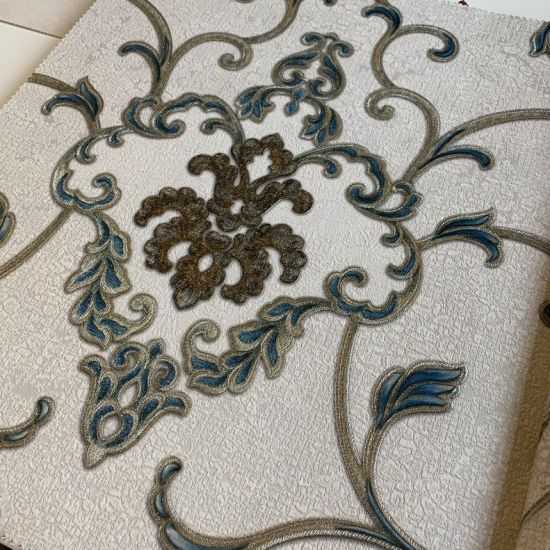 Floral Vine PVC Vinyl Waterproof Embossing Luxury Home Decoration Wall Paper for Building Material