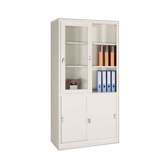 Metal Bookshelf Steel Storage Cabinet Cupboard Office Furniture