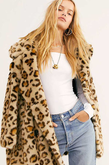 2019 High Quality Leopard Printed New Fashion Long Loose Women Coat