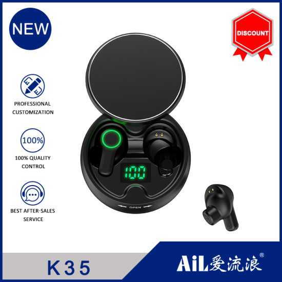 Wholesale Portable Wireless Earphone Tws Mini Bluetooth 5.0 Headphone Headset with 320mAh Charging Box