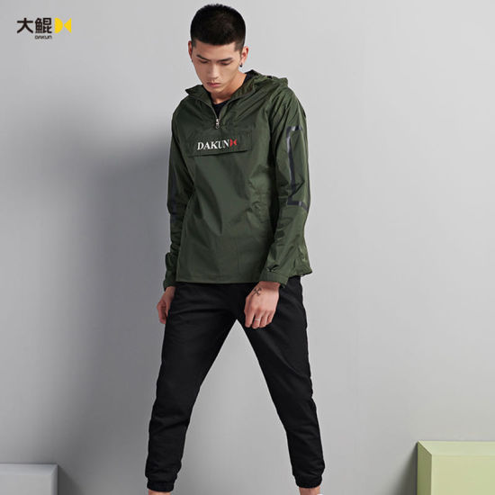 Wholesale Chinese Famous Brand Dakun Quality Young Style Water Proof Wind Coat