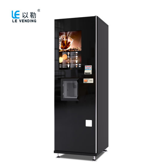 Le308b Fresh Ground Espresso Coffee Vending Machine with 21.5 Inch Touch Screen pictures & photos