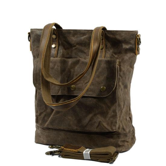 32d761788 Waterproof Canvas Women′s Handbag Bee Waxed Canvas Shoulder Bag (RS-88815K)