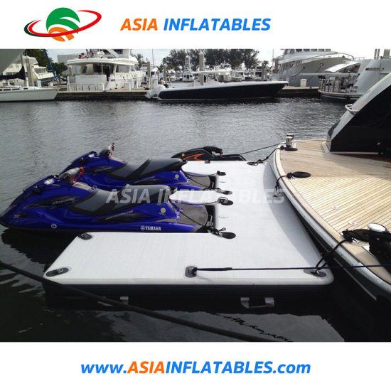 China Drop Stitch Inflatable Dock Floats, Floating Jetski Dock