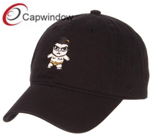 Black Baseball Dad Unstructed Cap with Flat Embroidery and Competitive Price pictures & photos