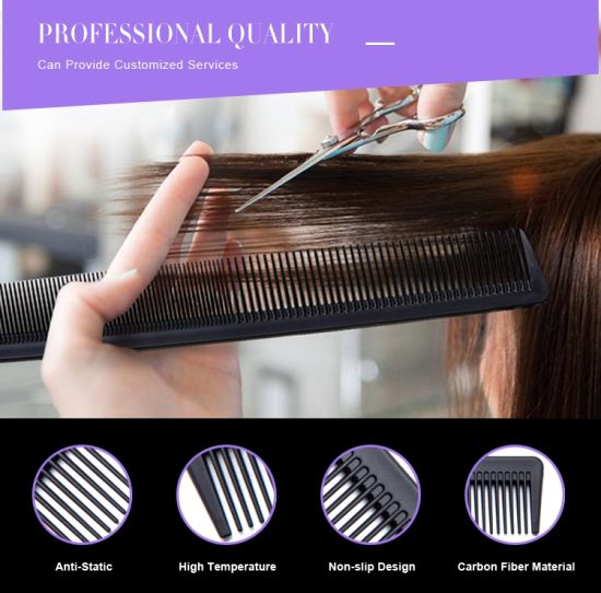 Personalized Hair Styling Salon Use Carbon Combs