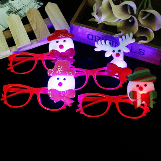 Multiple LED Flashing Frame Kids Children Glasses Party