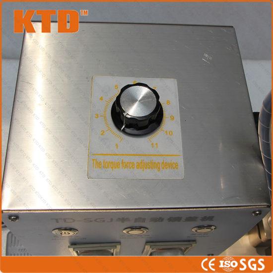 Ce Iso Semi Automatic Four Wheel Cap Cing Machine