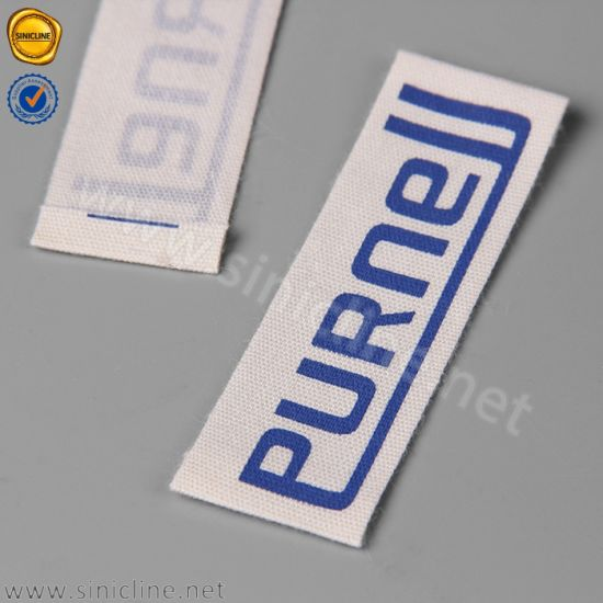 Sinicline Natural White Blue Logo Printed Labels Garments