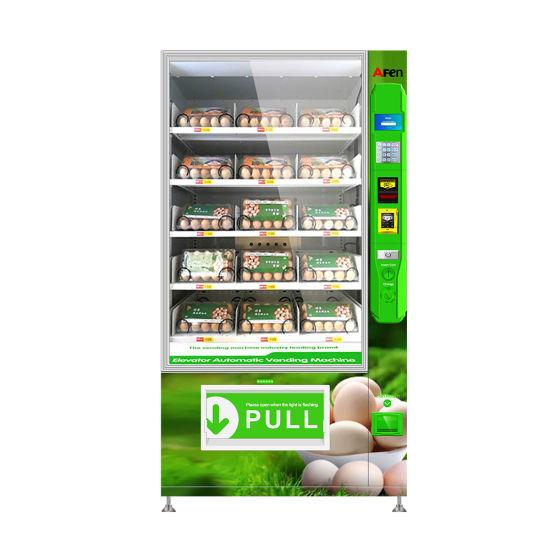 Afen Conveyor Belt Safe Delivery Elevator Egg Vending Machine for Sale