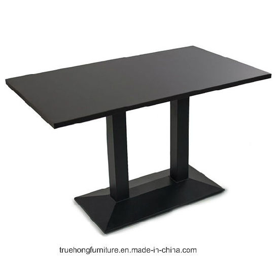 Industrial Style Restaurant Wooden Rectangle Dining Table with Metal Legs