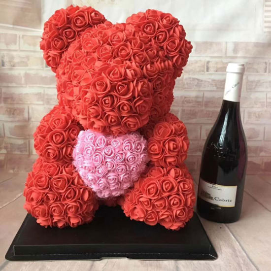 China Lovely Red Teddy Rose Bear With A Pink Heart Wedding Gifts