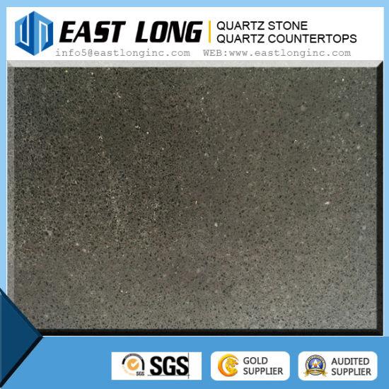 Big Grain Mirror Black Artificial Quartz Stone /Quartz Stone Countertop