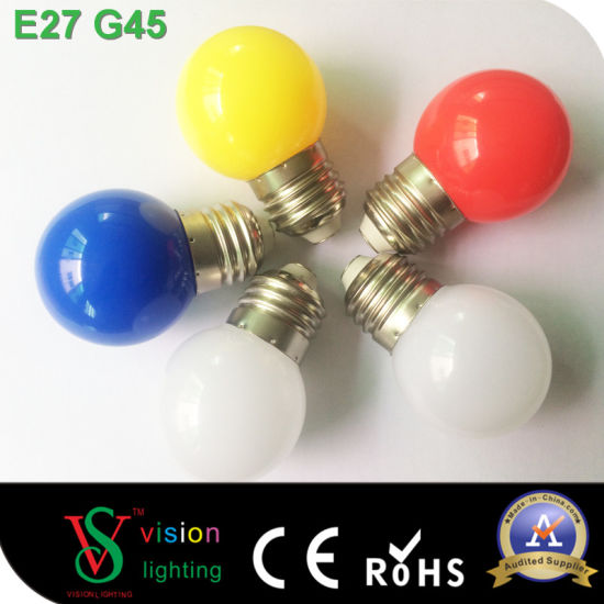 Christmas Tree Decoration E27 B22 Led Color Bulbs 1watt G45 Global Bulb