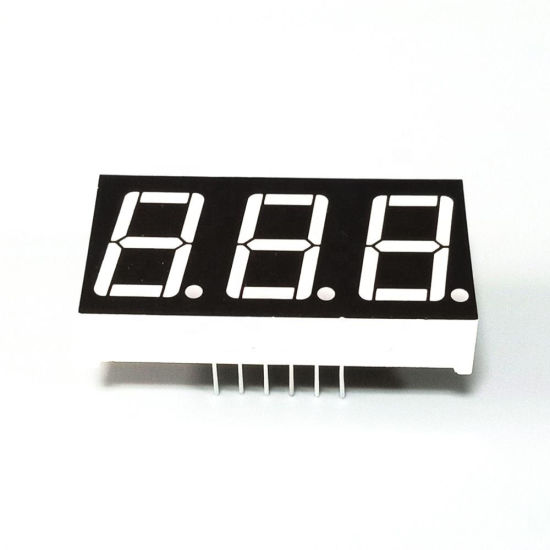 "0.28"" White Color 7 Segment LED Display Three Digits pictures & photos"