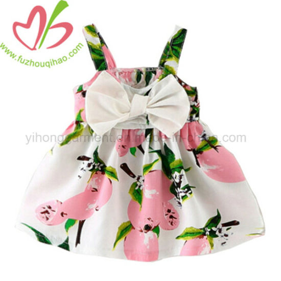 Fashion Baby Girl Lovely Party Floral Dress Colorful