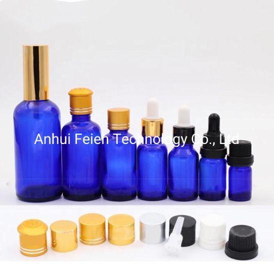 5ml 10ml 20ml 30ml 50ml 100ml Cheap Blue Glass Dropper/Cap Bottle Empty Essential Oil Bottle for Cosmetic Packaging