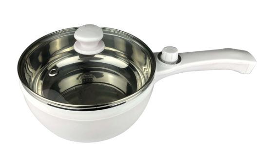 White Non-Stick Long Handle Small Noodle Pot Mini Cooking Pot