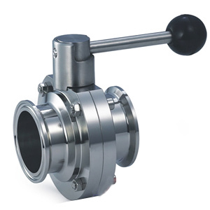 304/316L Stainless Steel Manual Food Grade Butterfly Valve pictures & photos