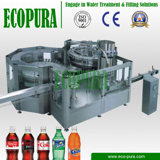 Carbonated Soft Drink (CSD) Filling Machine / 3-in-1 Soda Water Bottling Machine