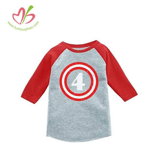 Popular Assorted Color Baby Boy Tee Tops Kids Raglan Shirt
