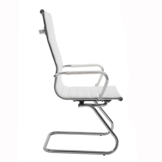 Stupendous High Back Modern High Back White Pu Leather Guest Chair With Protective Arm Sleeves Beatyapartments Chair Design Images Beatyapartmentscom