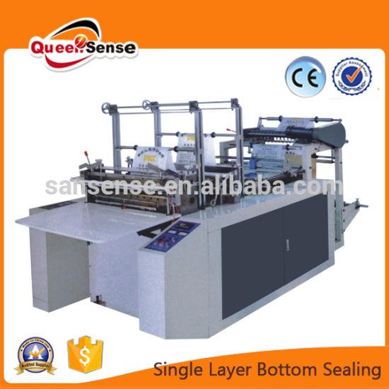 Single Line Cold Cutting Bottom Sealing Plastic Bag Making Machine