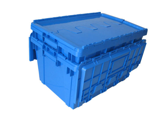 600*400 Nestable Plastic Distribution Stacked Container Boxes