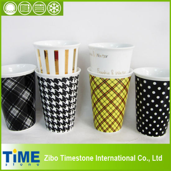 China Ceramic Mug With Rubber Lid And Silicone Band Coffee