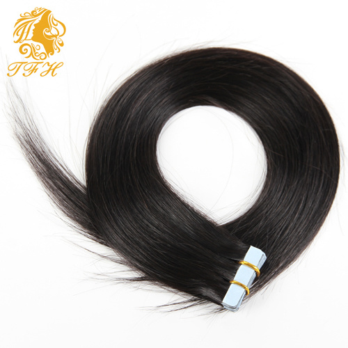 Tape Hair Extensions, Natural Human Hair Extensions, 20 PCS, Silky Brazilian Virgin Hair, Remy Tape Skin Weft, 10 Colors pictures & photos
