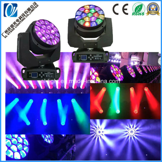Clay Parkky LED Bee Eye Moving Head Light with 19LEDs RGBW 4in1 Pixel Control for Stage pictures & photos