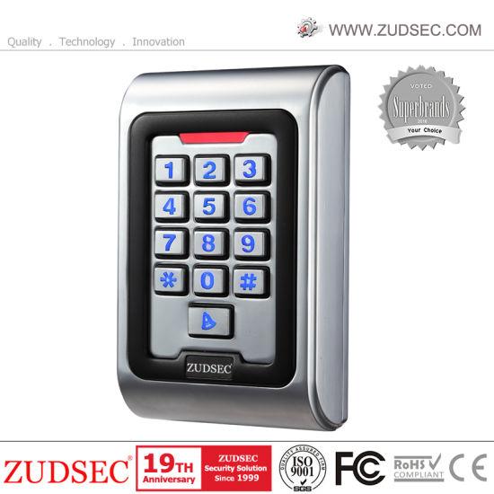 Factory Supply Outdoor Waterproof Facial Recognition Biometric Fingerprint Metal Standalone RFID Door Access Control