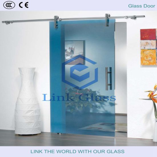 Decoration Glass in Shower Room with Carved Glass and Acid Etched Glass with Ce & CCC pictures & photos