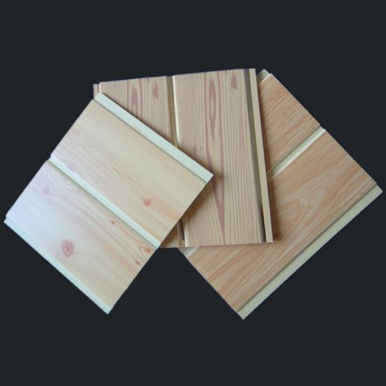 Wooden Colors Middle Groove PVC Panel for Wall and Ceiling 20cm Width pictures & photos