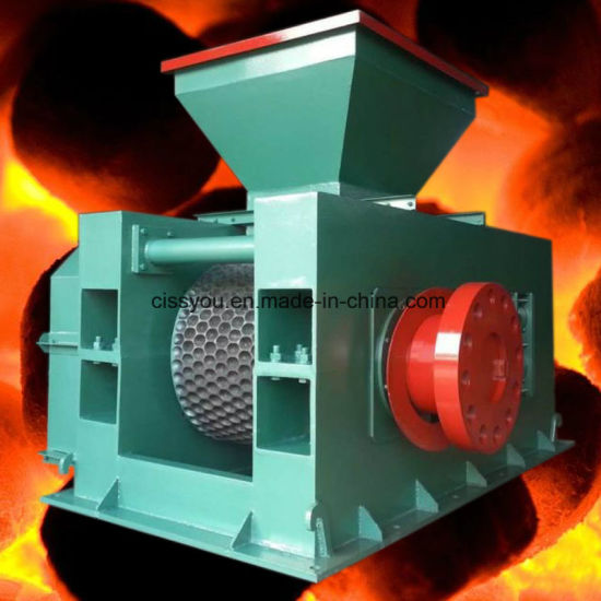 China Silver Charcoal Coal Powder Stick Extruder Briquette Press Machine pictures & photos