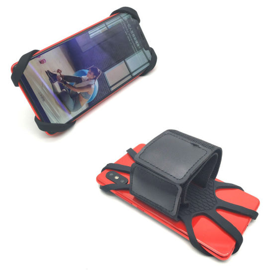 Outdoor Silicone Rotatable Wristband Running Armband Phone Mobile Holder for Sports